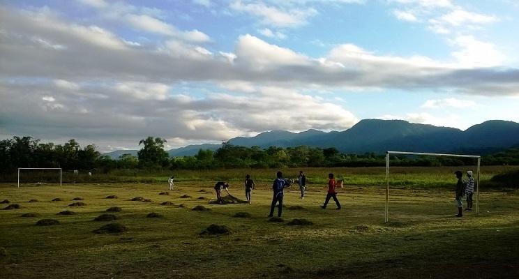 Indigene Schüler der landwirtschaftlichen Sekundarschule Escuela de la Familia Agrícola in Argentinien.