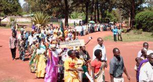 Demonstrationszug von Friedenskomittes in Burundi