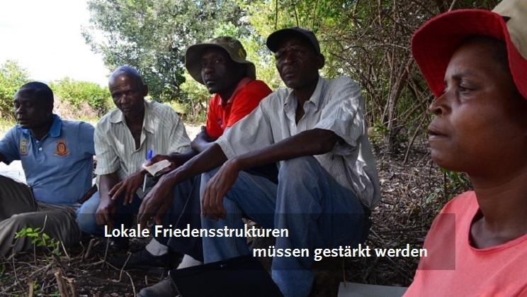 Ein lokales Friedenskomitee in Simbabwe.