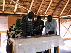 Bäuerinnen und Bauern bei einem Workshop