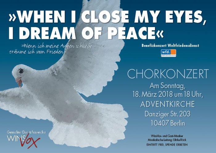 Winsvox Chor Benefiz Konzert Einladung