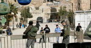 Israelischer Checkpoint in Hebron