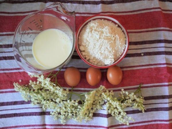 Holunderpfannkuchen - Zutaten