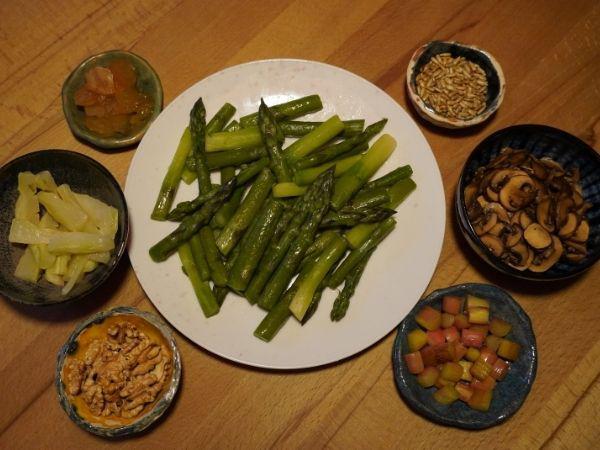 Zutaten vegane Spargel-Rice-Bowl