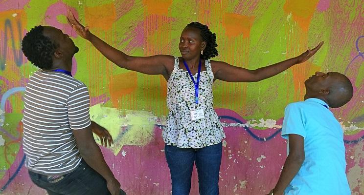 Ausbildung für die Friedensgruppe Übung zu Machtverhältnissen und Befreiung