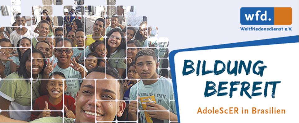 Eine Gruppe von Jugendlichen von AdolScER in Brasilien
