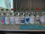 Elsenfeld Realschule Wasserflaschen mit eigenen Etiketten