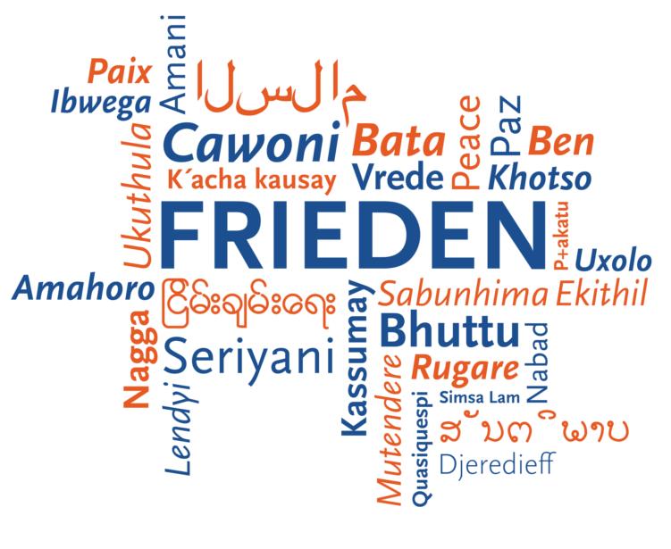 Frieden in verschiedenen Sprachen