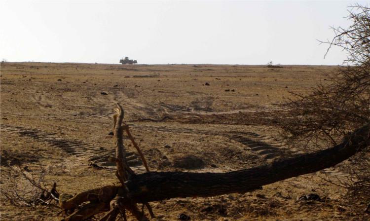 Trockene Landschaft in Sengeal