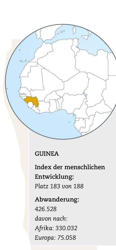 Karte und Infokasten Guinea