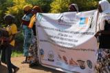 Kenia: Banner auf einer Demonstration
