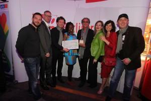 Die Preisverleihung des Special Teddy Award for HIV-Awarenes bei der Berlinale fuer das Projekt STEPS-for the future in Südafrika