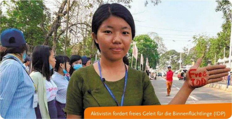 Aktivistin fordert freies Geleit für die Binnenflüchtlinge (IDP)