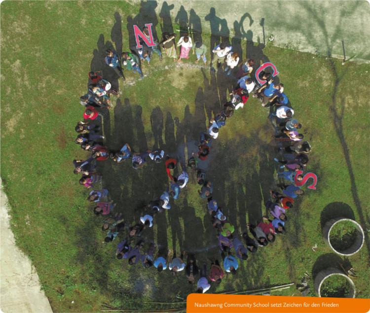 Naushawng Community School setzt Zeichen für den Frieden