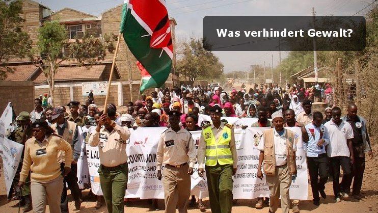 Demonstration zum Response Center Isiolo County Kenia als Teil der Gewaltprävention