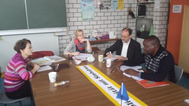 Johannes Mufakose im Gymnasium Hückelhoven
