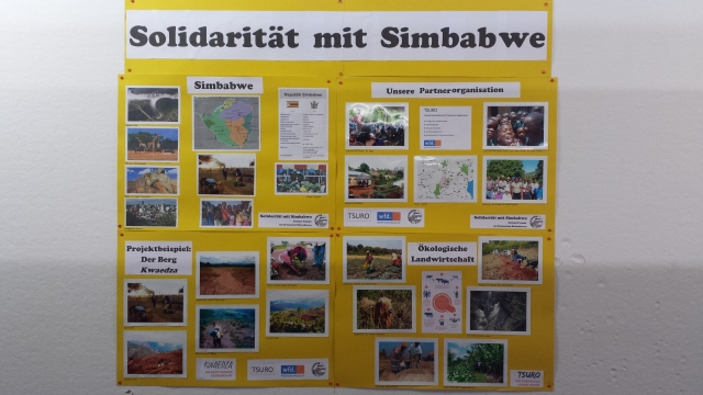 Wandzeitung über Simbabwe von Schülern aus Bonn