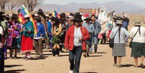 Indigene Gemeinden in Jujuy Demonstration für Landrecht